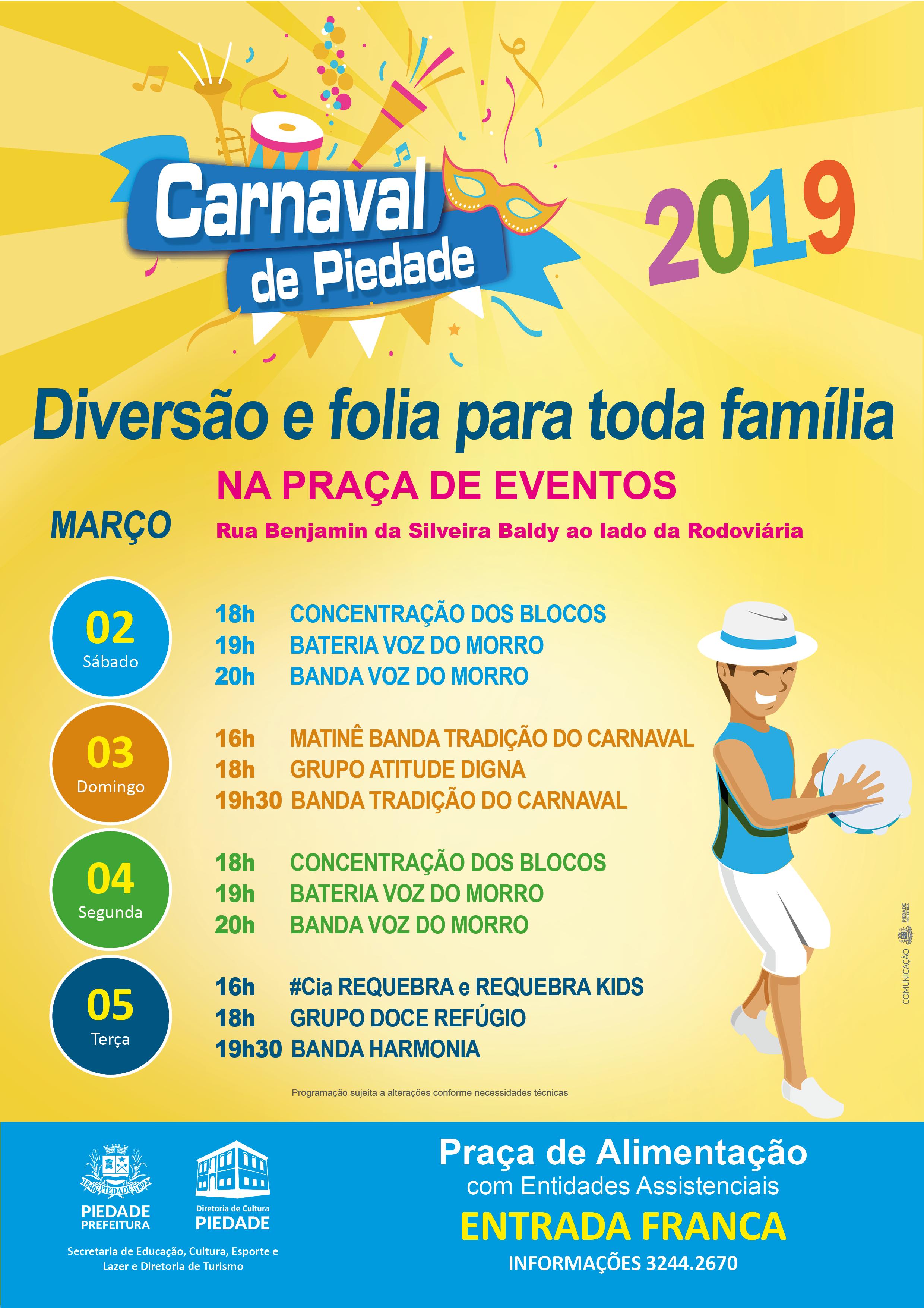 carnaval programação 2019